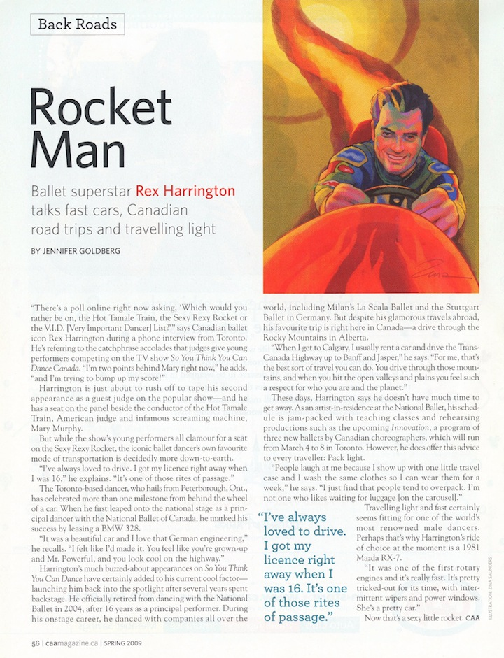 Rocket Man by Jennifer Goldberg, CAA Magazine
